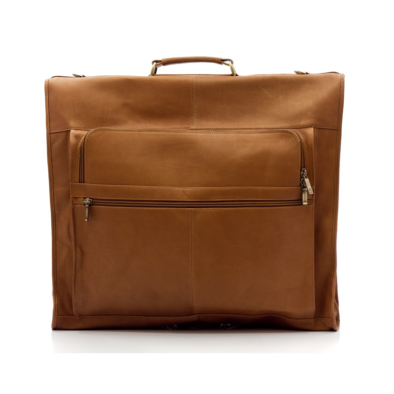 Havana - Carry All Garment Bag - Front View 2, Saddle