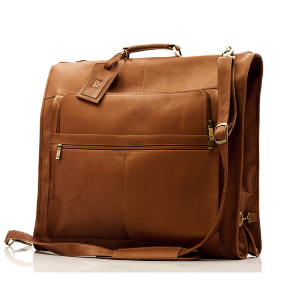 Havana - Carry All Garment Bag - Front View, Saddle