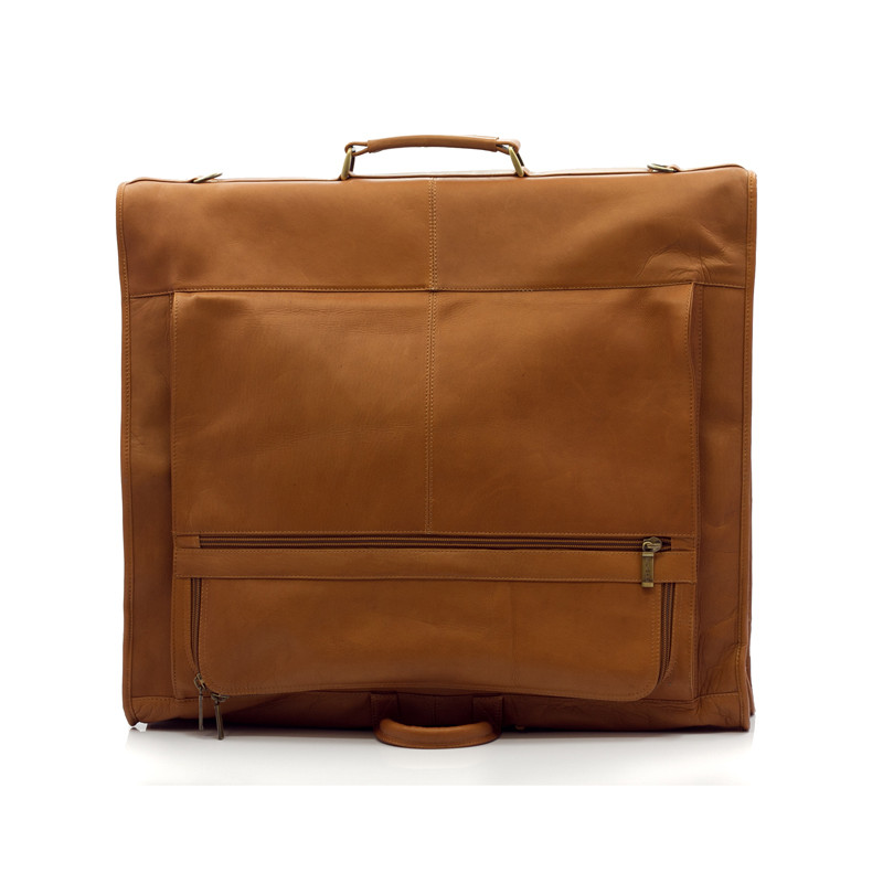 Havana - Carry All Garment Bag - Back View, Saddle