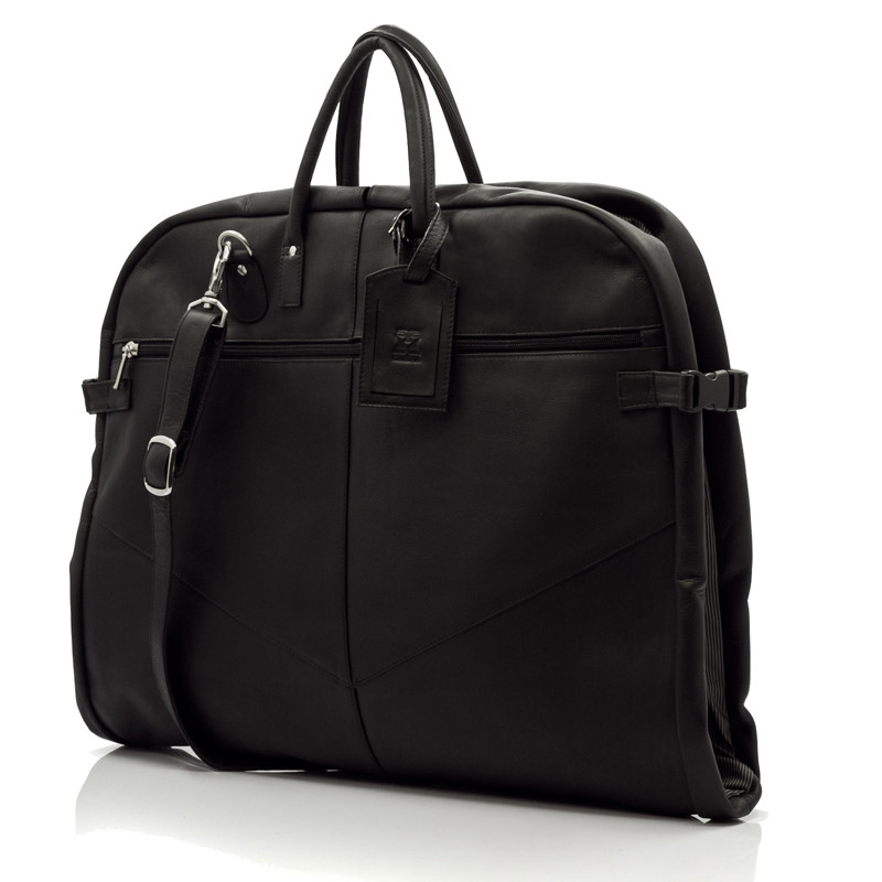 Rome - Lightweight Garment Bag - Front View, Black