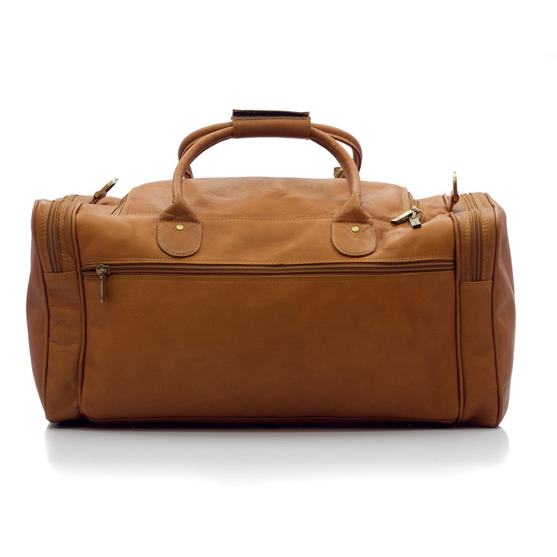 Muiska - New York - Leather Duffel bag has a deep pocket on the back side