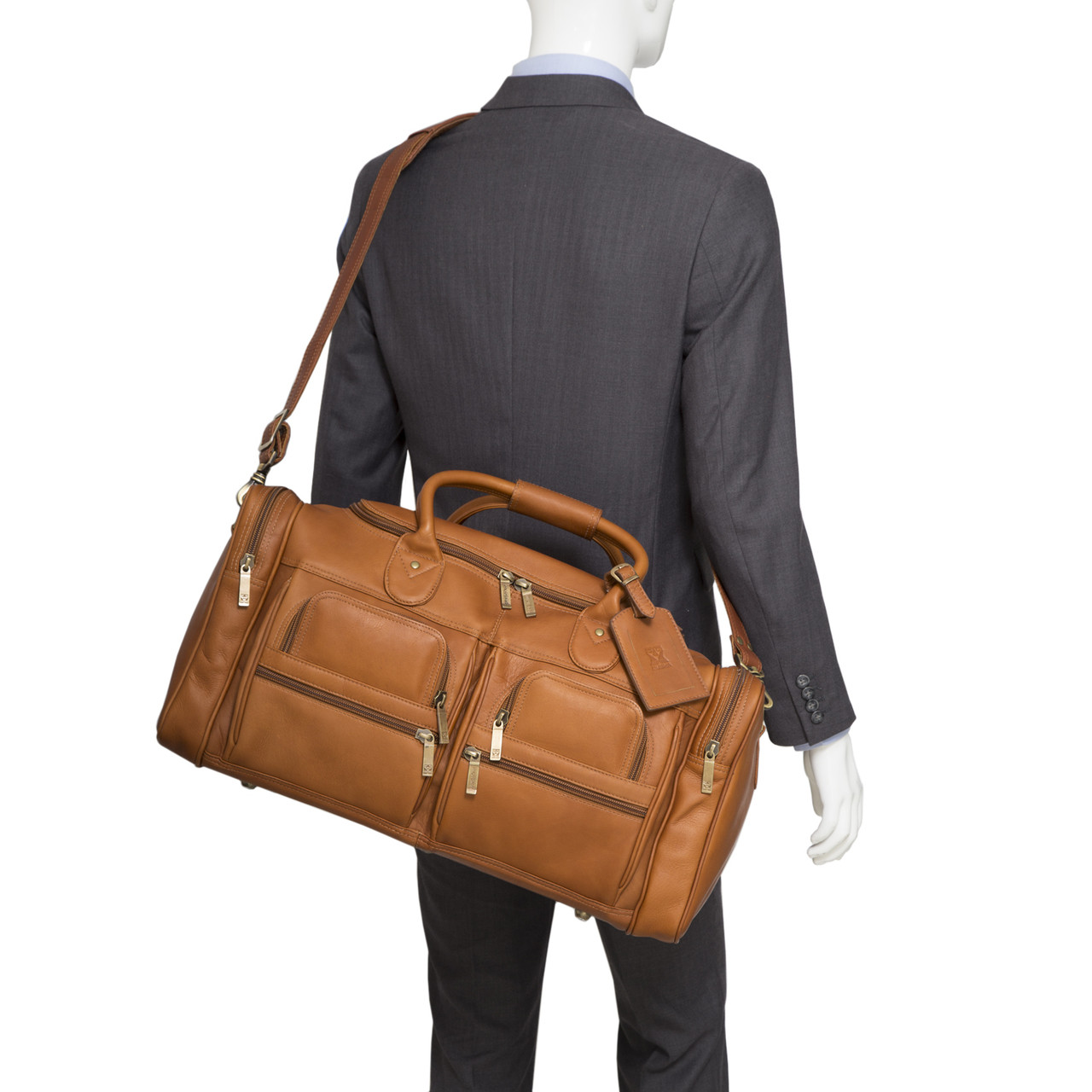 Muiska - New York - Leather Duffel Bag is handcrafted from the finest Colombian leather