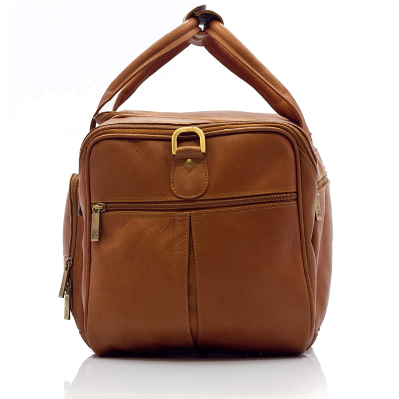 Muiska - Hugo - Leather Duffel Bag has reinforced double padded handles that can be secured together.