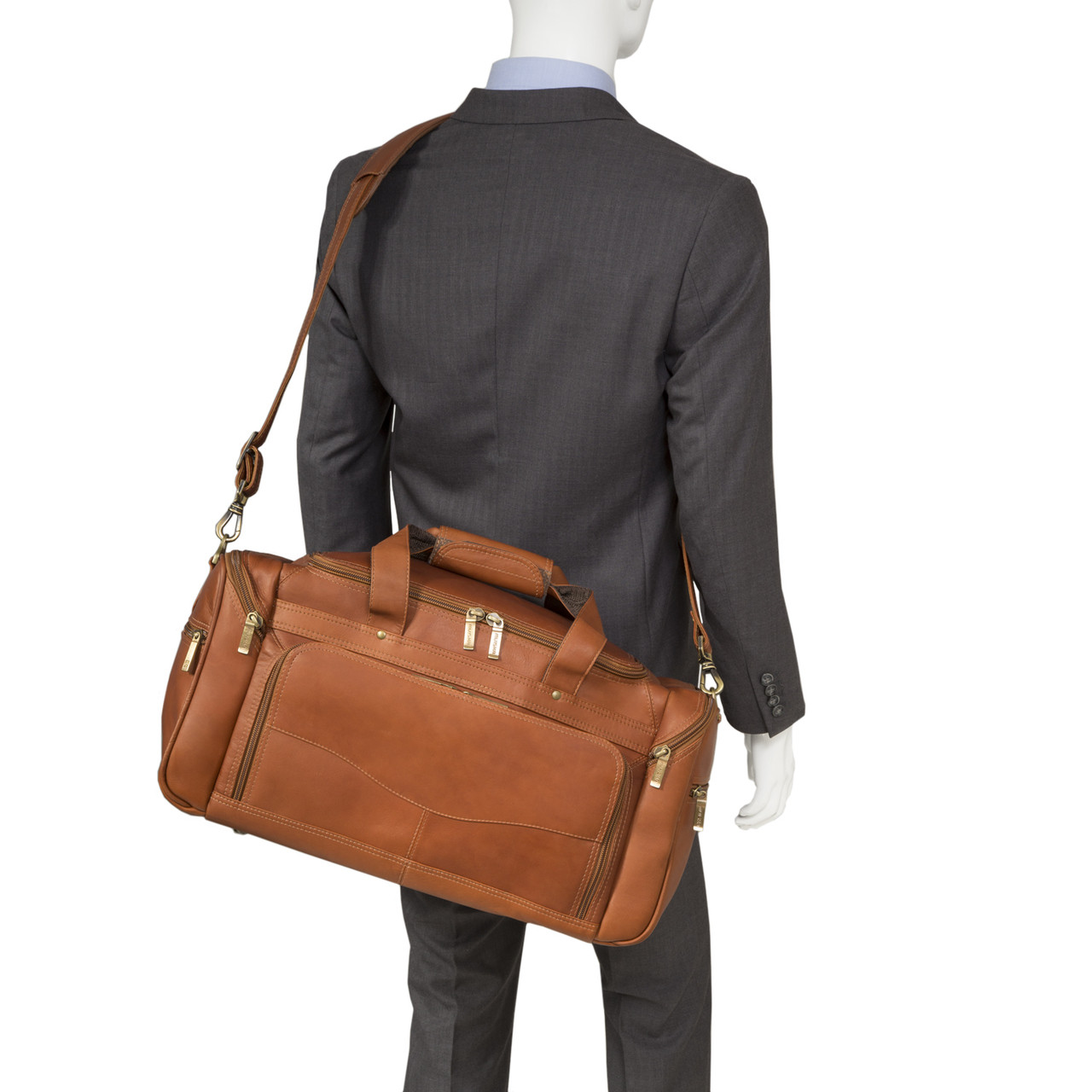 Muiska - Hugo - Leather Carry On Duffel is expertly handcrafted of fine Colombian leather
