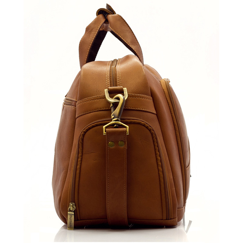 Muiska - Luis - Leather Weekend Bag comes with a heavy duty adjestable leather strap