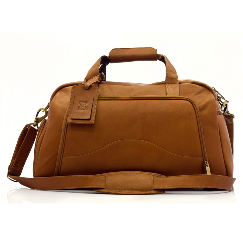 Muiska - Luis - Carry On Weekender Duffle - Front View, Saddle