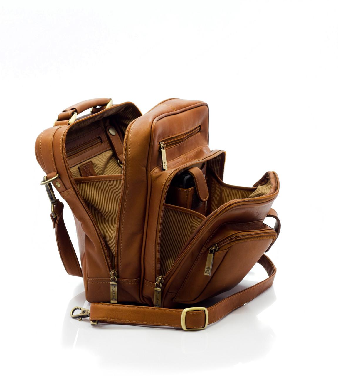 Muiska - Carlos - Men's Leather Cross Body Everyday Bag - spacious and utilitarian design