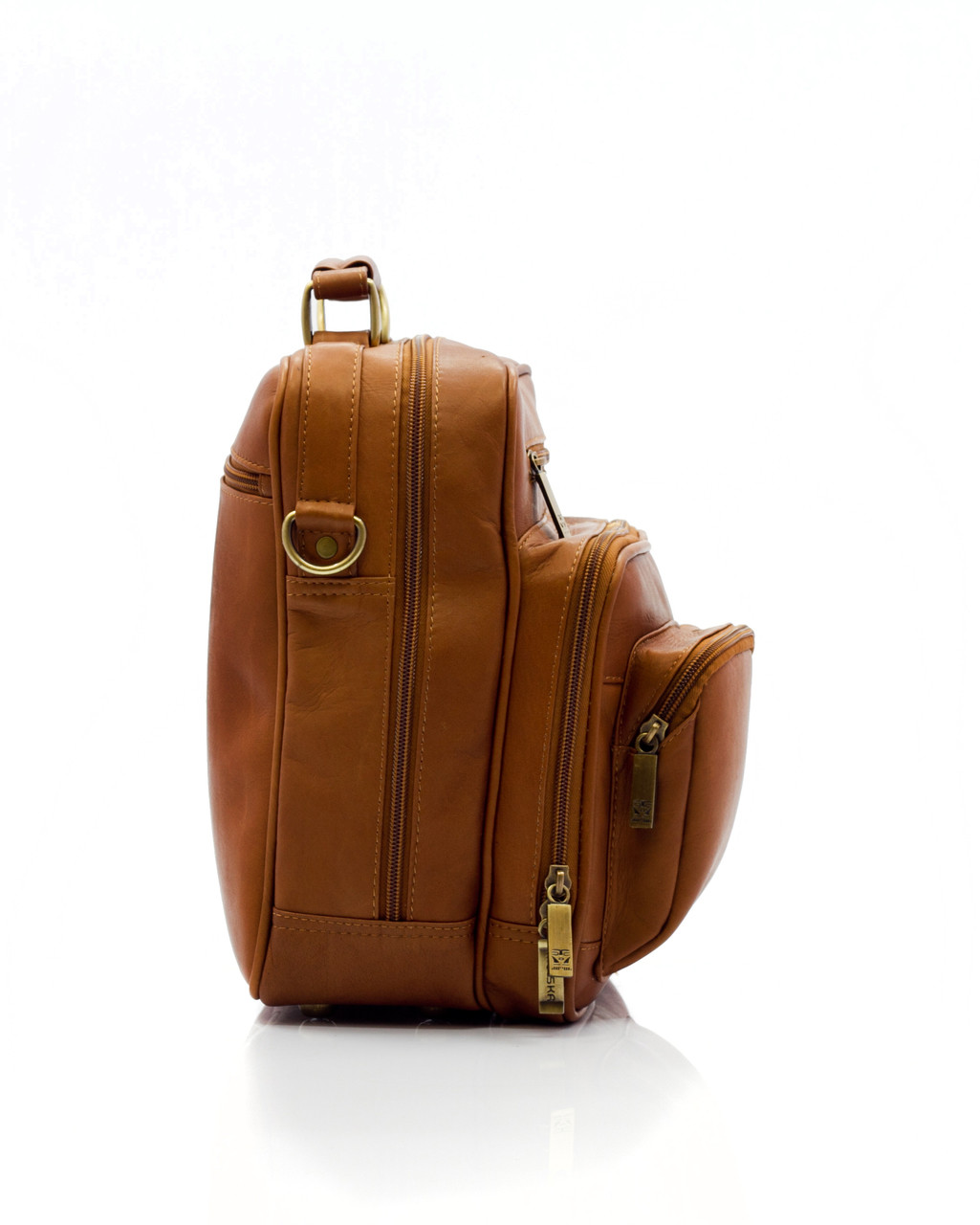 Muiska - Carlos - Men's Leather Everyday Bag - handcrafted fine leather exterior