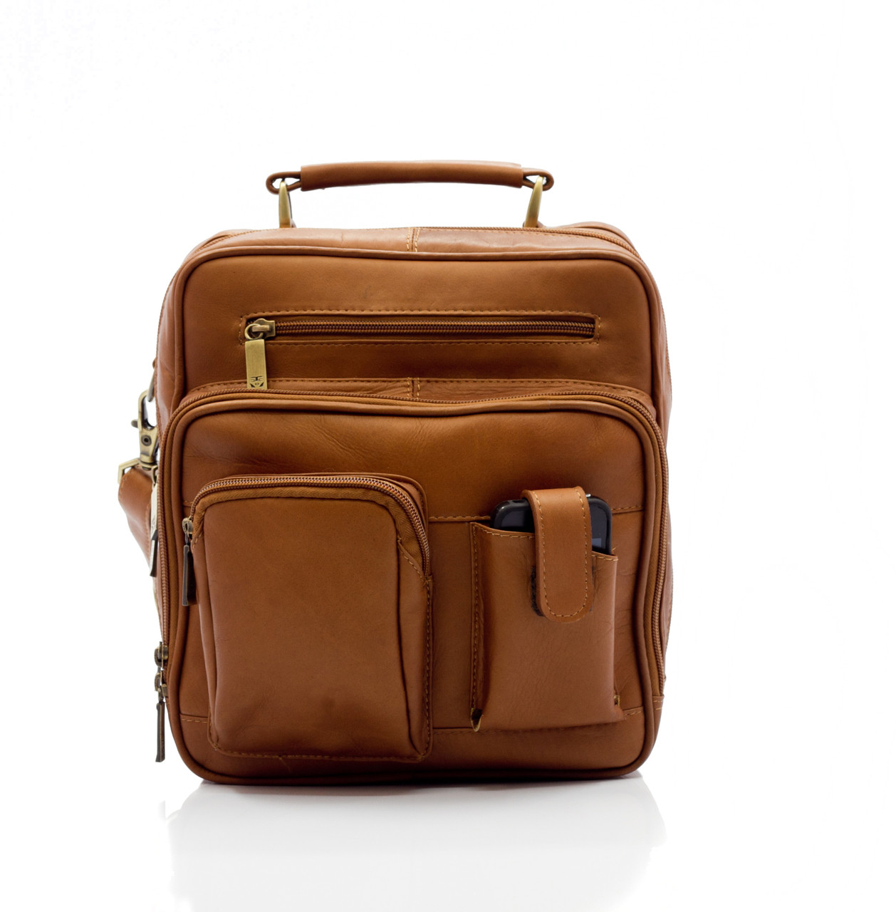 Muiska - Carlos - Men's everyday bag features four convenient front pockets