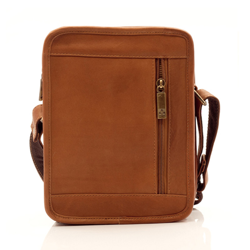 Muiska - Daniel - Men's Leather Satchel comes equipped with a vertical zippered back pocket