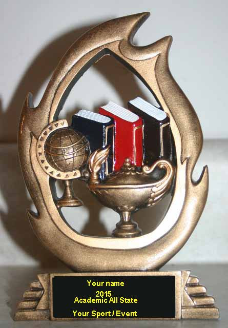 """Academic All State 3D Plaque 7.25"""" X 5.25"""" Sits on desk."""