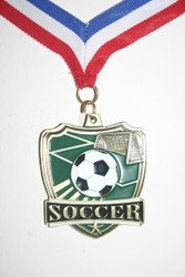 All State Soccer medal front with red/white/blue neck ribbon