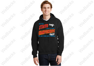Port & Company hoodie Design printed on the front