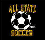 All State Soccer design Printed on back