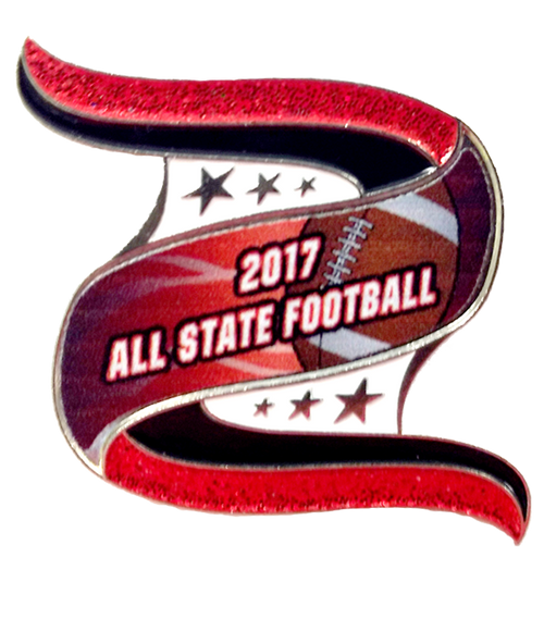 All Sash Pin for Letter Jacket, Letter Sweater...... All State Football 2017