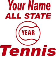 Red Decal All State Tennis