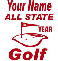Red Decal All State Golf