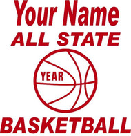 Red Decal All State Basketball