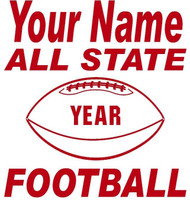 Red Decal  All State Football
