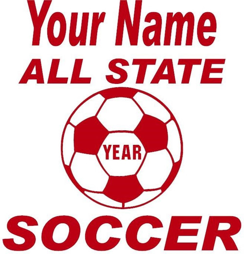 Red Decal All State Soccer