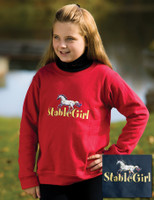 Stable Girl Crew Neck Sweatshirt, Size Small Only