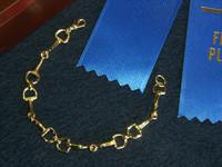 Gold Snaffle Bit Bracelet