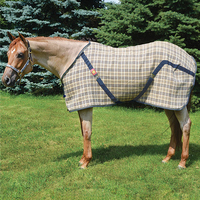 Baker Plaid Stable Sheet, 54'' - 70''