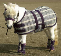 Kensington Mini Protective Sheet, Deluxe Plum & Plum Ice Plaids