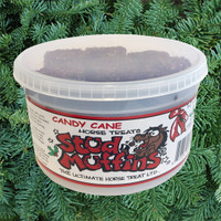 Stud Muffins 20 Oz Tub of Horse Treats,  Candy Cane Flavor