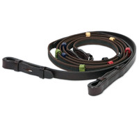 Camelot Anti-Slip Reins with Colored Stops, Pony