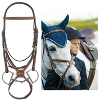 Pessoa Figure 8 Jumper Bridle with Rubber Reins, Cob Size