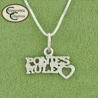 Ponies Rule, Sterling Silver Necklace