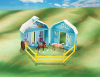 Stablemates Frolicking Foals Pocket Barn Play Set