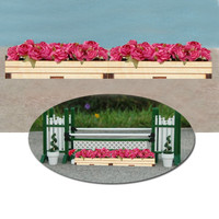 Flower Boxes with Pink Flowers for Model Horse Jumps