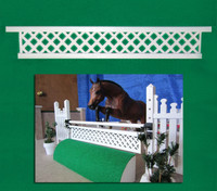 White Lattice Gate for Model Horse Jumps