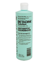 Betadine Antiseptic Solution, 5% Povidone-iodine, 16 oz