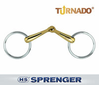 "Herm Sprenger Turnado Loose Ring Snaffle, 16mm, 4.25"" & 4.5"""