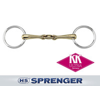 "Herm Sprenger KK Ultra Double Jointed Bradoon, 14mm, Aurigan, 4.125"" & 4.5"""
