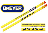 Breyer Pencil, Yellow and Blue Design