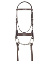 Bobby's  Plain, Flat Hunt Bridle with Laced Reins