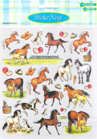 Horses, Dogs, Apples & Carrots Stickers