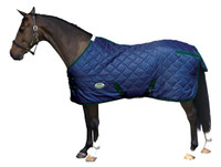 "Weatherbeeta Wave Quilt 300g Stable Blanket, Navy/Hunter, 48"" - 57"""