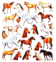 Horses and Horse Heads Stickers