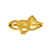 Gold Running Pony Adjustable Ring from Finishing Touch