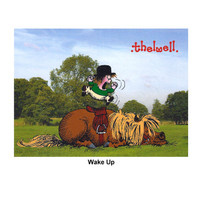 "Thelwell ""Out and About"" Greeting Card: 'Wake Up'"