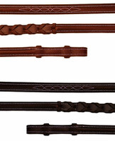 Bobby's Fancy Stitched Raised Laced Reins, Three Sizes