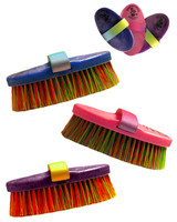 Haas Multicolored Bristle Brush in Blue and Pink