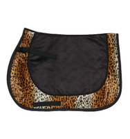 Big Game Pony Saddle Pad, Leopard with Black Suede
