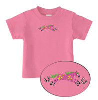 Bright Pony Embroidery Tee, Azalea, Infant Tee, 12, 18 & 24 Months