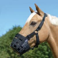 Shires Nylon Grazing Muzzle with Halter, Small Pony, Pony and Cob